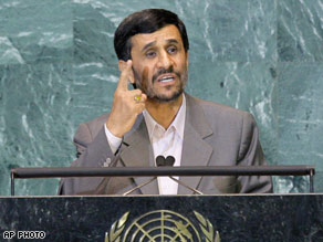 Iranian President Ahmadinejad vows U.S. power coming rapidly to an end
