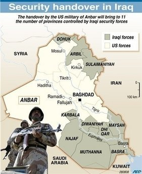 Iraq's military now control 11 of 18 provinces.