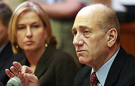 Will Livni follow Olmert's plan to divide Jerusalem, give away Judea and Samaria?