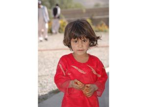 A little girl in Afghanistan