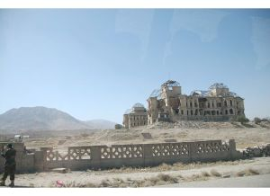 The former palace of the Afghan king, destroyed by years of fighting