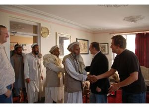 Joel meets with Afghan tribal leaders from the Nangarhar Province, near the border of Pakistan
