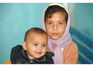 Needy children in a town outside of Kabul