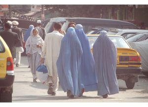 Women in Kabul dressed in burkas