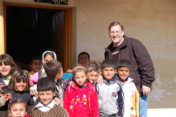 Attending a Joshua Fund relief project in northern Iraq in February 2008