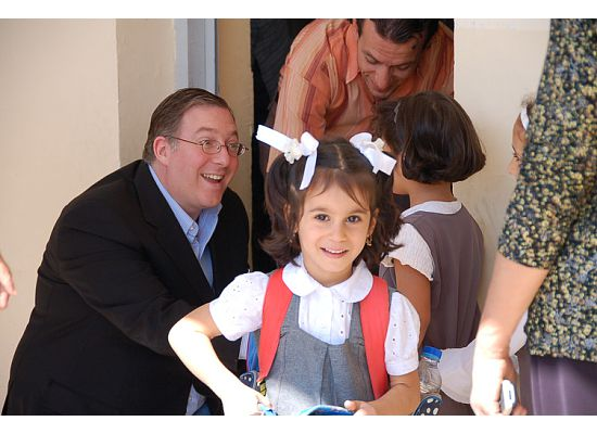 A Joshua Fund backpack distribution in northern Iraq in September 2008