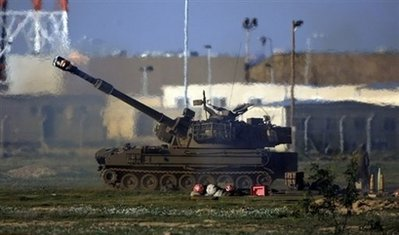 Israeli tanks began moving into Gaza Saturday afternoon