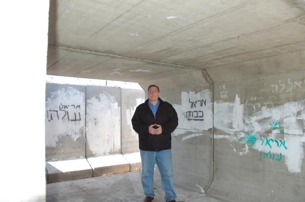 Inside an older bomb shelter in Sderot.