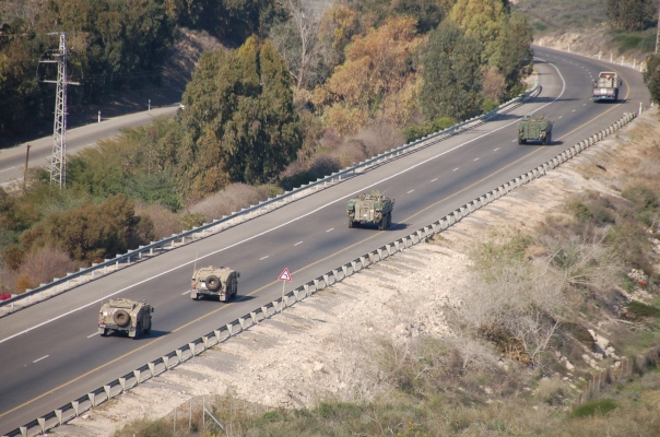 We saw Israeli military convoys moving equipment into position for what could be an accelerated urban offensive, though a final decison to crush Hamas has not yet been made by the Olmert government.
