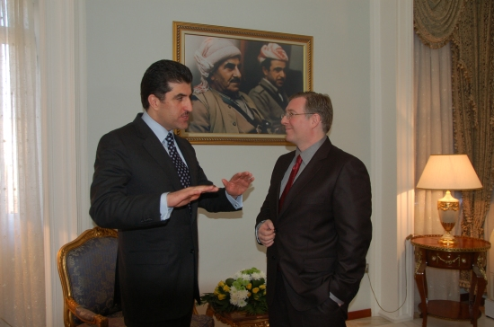 Joel discusses the future of Iraq and the Kurdish people with Prime Minister Barzani
