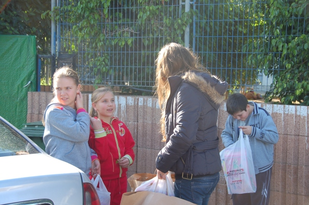 Volunteers distributed toys and games to children in Sderot