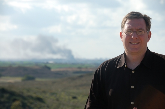 Joshua Fund founder Joel Rosenberg on Gaza border on Saturday, January 9, 2009
