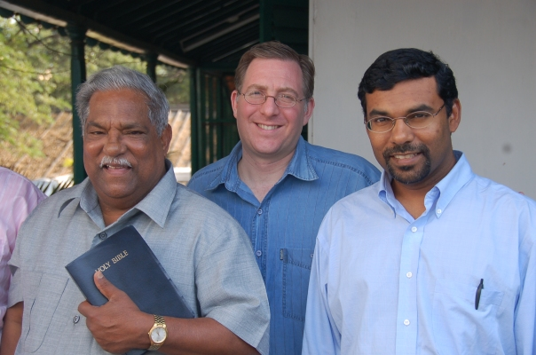 I was invited on a two week speaking tour through India by Dr. T.E. Koshy (left), a senior elder in a church movement of some 6,000 evangelical congregations throughout India, Asia and Europe. His son, Jay Koshy, is also a pastor and accompanied us on the trip.