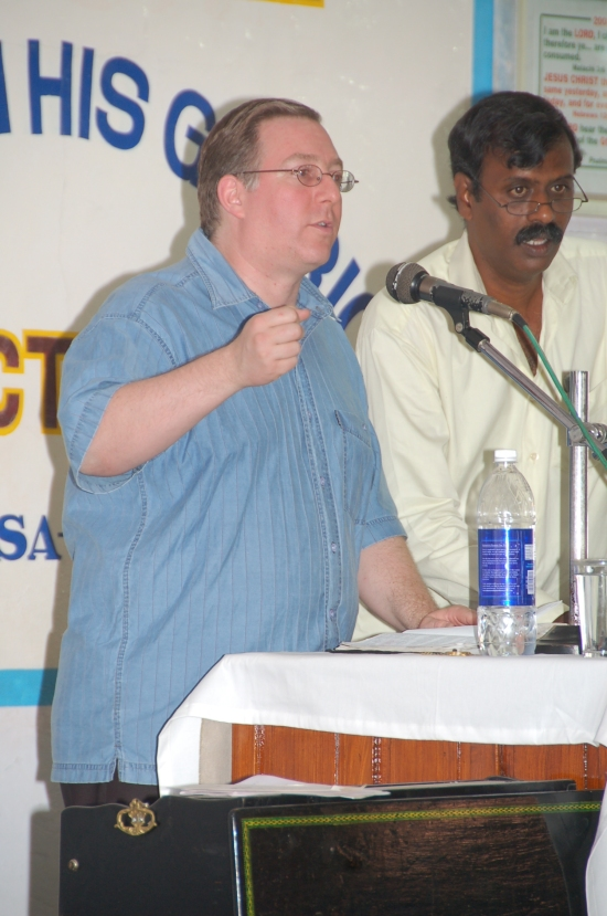 "In Chennai (Madras), I had the opportunity to preach via translation to nearly 4,000 Indian evangelical Christians on ""God's eternal love, plan and purpose for Israel and the people of the epicenter."""