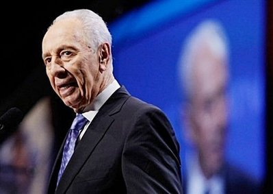 Israeli President Shimon Peres addressed AIPAC in person, and meets with President Obama today
