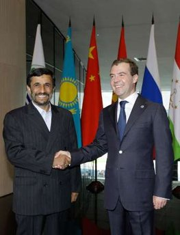 Prophetic? As Iranian forces murder pro-democracy protesters, Ahmadinejad heads straight for Moscow.