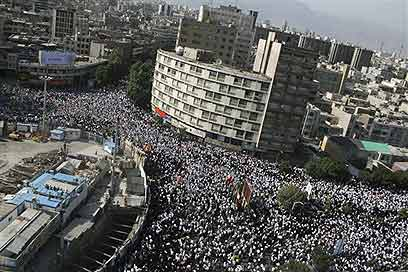 Massive protests in Iran not seen since '79 Revolution.