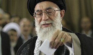 "This guy's vote is all that matters: Whom did the Ayatollah Khamenei ""vote"" for this morning?"