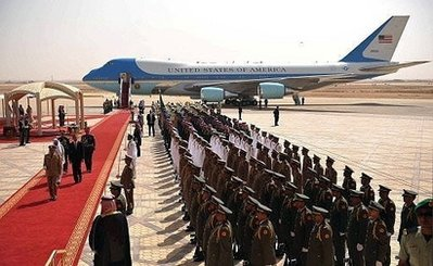 Air Force One in the birthplace of Islam.