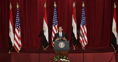 President Obama spoke at Cairo University this morning.