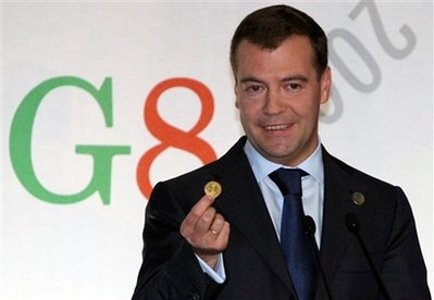 Russian President Dmitry Medvedev unveils new global currency.