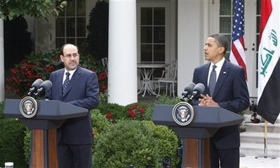 President Obama and PM Maliki at the White House on Wednesday.