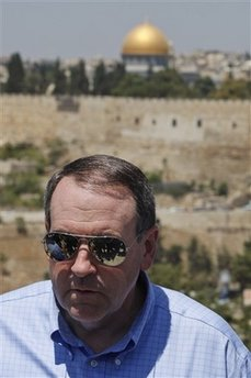 Fmr. Arkansas Governor Mike Huckabee visited Jerusalem Monday.