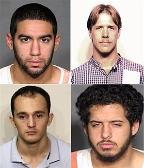 Mug shots of alleged terrorists arrested in North Carolina.