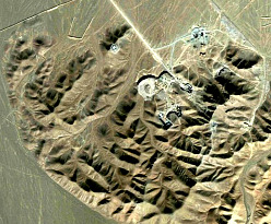 Satellite image of new uranium enrichment facility being built near the city of Qom, Iran. (AP photo)