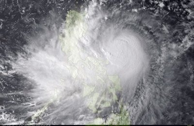"""Super Typhoon Parma "" bears down on the Philippines."