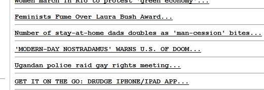 """DRUDGE REPORT LINKS TO ARTICLE ABOUT NEW """"IMPLOSION"""" BOOK"""