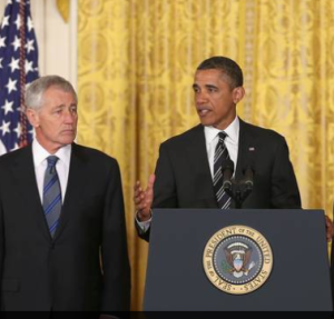 The President has nominated fmr Sen. Chuck Hagel to be Secretary of Defense.