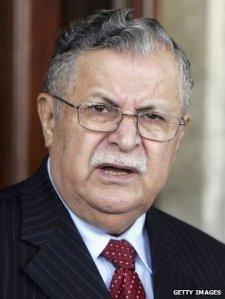 Iraqi President Jalal Talabani.