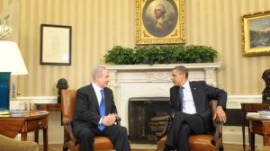 Netanyahu and Obama at a March 2012 meeting in the White House (photo credit: Amos Ben Gershom/GPO/Flash90)