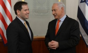 Prime Minister Benjamin Netanyahu meets with Senator Marco Rubio, February 20, 2013. Photo: GPO