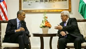 President Obama meets with Palestinian Authority Chairman Mahmoud Abbas (Abu Mazen) in Ramallah on Thursday.
