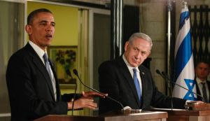 U.S. President Barack Obama and Benjamin Netanyahu speak at a news conference in Jerusalem, March 20, 2013. (Photo by Reuters)