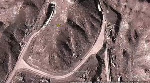 Satellite image of alleged nuclear and missile facility in Iran, about 15 miles northwest of the Fordow facility near Qom.