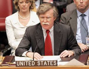 John Bolton served as the U.S. ambassador to the U.N. under President George W. Bush.