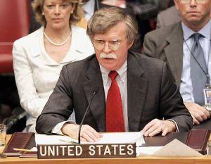 John Bolton served as the U.S. ambassador to the U.N. under President George W. Bush.