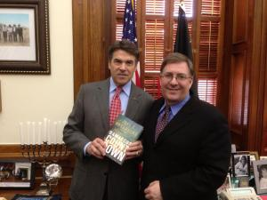 Meeting with Gov. Perry in Austin.