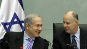 Tzachi Hanegbi (right) has been a long-time friend and confidante of Netanyahu.