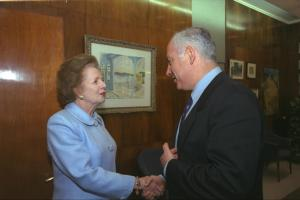 The Iron Lady meeting with Israeli PM Netanyahu.