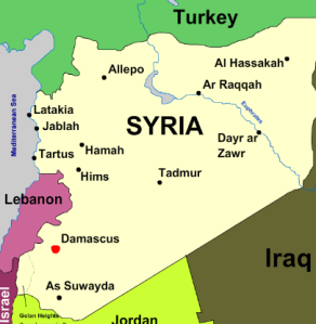Image result for Damascus, Syria map in Bible times
