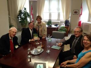 Meeting with the Honorable Diane Ablonczy, Canada's Minister of State for Foreign Affairs, in Ottawa.