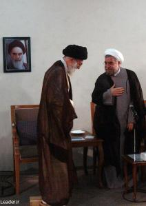 President-elect Hassan Rouhani (right) meets with his boss and mentor, Supreme Leader Ali Khamenei.