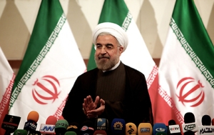 Rohani in first press conference as president (Photo: AFP)