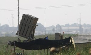 Iron Dome battery deployed in North (Photo credit: Ben Hartman, Jerusalem Post)