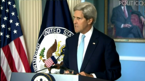 Secretary Kerry briefing reports on the U.S. intelligence findings from Syria.