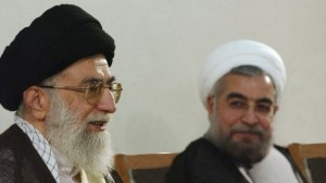Iranian Ayatollah Khamenei (left) and Iranian President Hassan Rouhani (right).